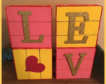 Decorated Wooden Blocks