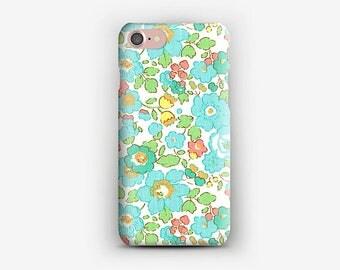 Hard iPhone case + 7 Liberty betsy turquoise 7