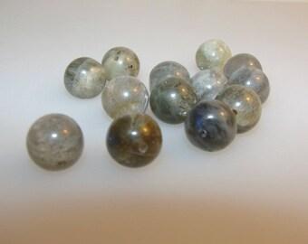 Round 10 mm Labradorite. Semi-precious stone sold separately. (4943723)