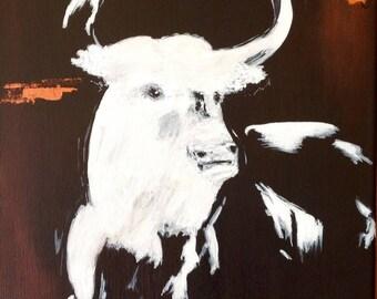 El toro blanco! Acrylic paint