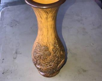 Vintage 1970s Stag Deer Vase,
