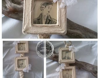 trio of frames is picture hanging ecru and beige shabby style.