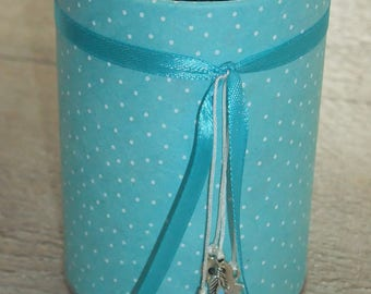 Pencil holder (No. 132) turquoise blue paper