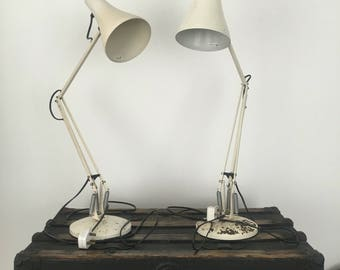 Pair of anglepoise desk lamps