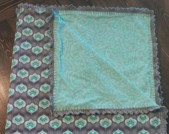 Crocheted Edge Receiving Blanket