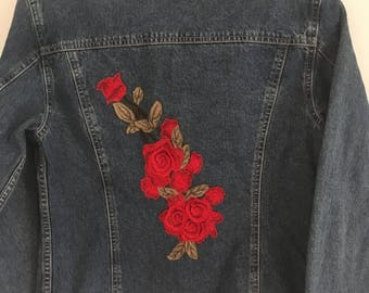 Womans Gap denim jacket with embroidered motif