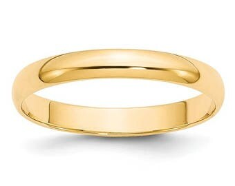 New 14K Solid Yellow Gold 3mm Men's and Women's Wedding Band Ring Sizes 4-14. Solid 14k Yellow Gold, Made in the U.S.A.
