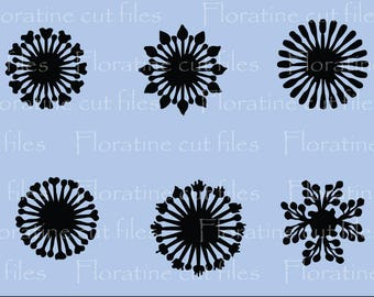 Paper Flower Centres SVG File Stamen cutting files for Paper Flower Making, Paper Flower Template, Wedding Decor, Scrapbooking Quill Kit