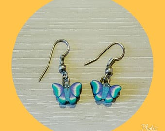 Butterfly polymer clay earring