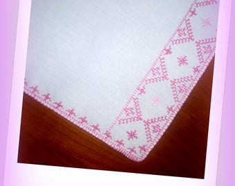 White and pink, soft DOILY!