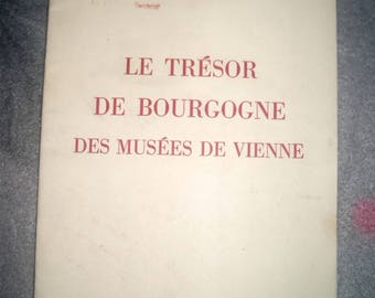 VINTAGE 1948 COLLECTIBLE * museums of Vienna Burgundy Treasury