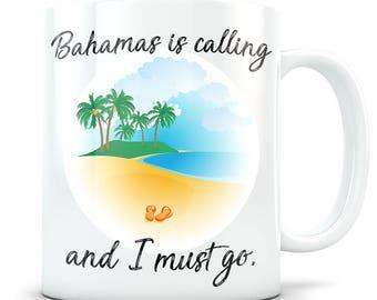 Bahamas Mug - Bahamas Coffee Cup - I Love Bahamas Gift - I'd Rather Be In Bahamas - Nassau, Eleuthera, Freeport, West End Travel Beach Mug