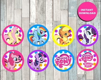 80% OFF Printable My Little Pony Cupcakes toppers instant download, My Little Pony party Toppers, Printable My Little Pony Toppers