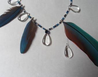 Guyana, necklace feathers Macau