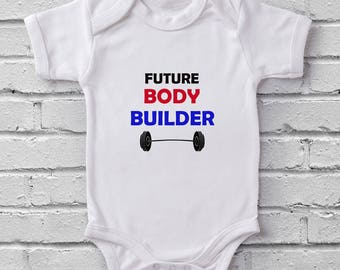 Future Body Builder baby grow bodysuit onesie baby shower gift