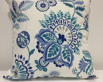 Pillow cover, home decor pillow, throw pillow cover, accent pillow, cushion cover, home decorating, print pillow cover, all sizes, blue, red