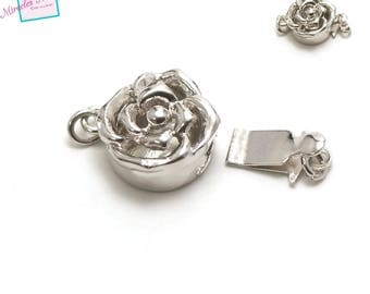 "a beautiful ""flower"" clasp, 925 sterling silver"
