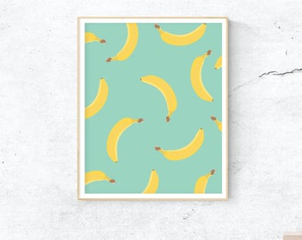 Bananas Instant Download Printable Graphic Design Art