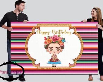 Frida Kahlo Backdrop, Frida Backdrop, Frida Kahlo Banner, Fondo Frida Kahlo, Frida Birthday