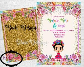 Frida Kahlo Invitations, Frida Invitations, Frida Invitaciones, Frida Party, Frida 1st Birthday Invitation, Fiesta Frida