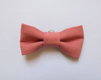 Old pink cotton bra bow / bow