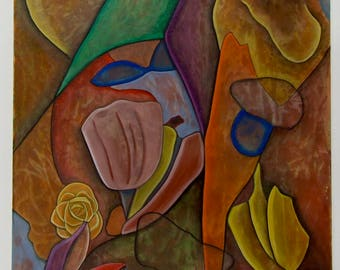 Abstract Cubist Surrealist Painting