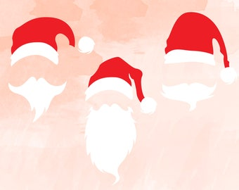 Santa face svg | Santa cut files | Holiday svg | Christmas SVG Cut files | Santa face clipart | Santa Claus svg | Santa svg set bundle cut