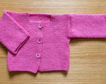 Pink - acrylic and wool vest