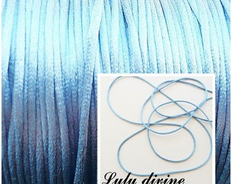 Cord / 2 mm polyester thread, color: Blue