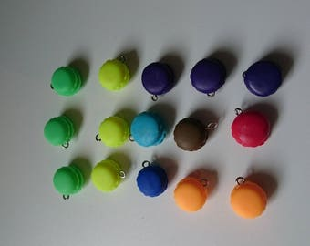 Set of 15 buttons assorted colors