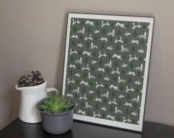 Husky Printable Poster