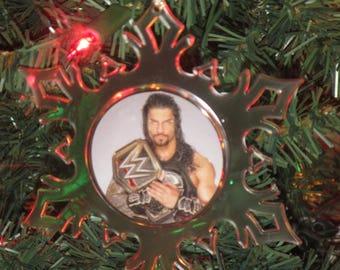 WWE Roman Reigns Personalized Acrylic SnowFlake Ornament *Free Personalization*