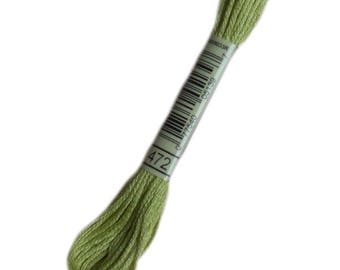 All the FLOSS 472 special DMC 472 green bud - 472 - skein of thread dmc stranded dmc embroidery thread mouline 472
