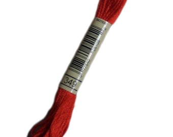 All the FLOSS 349 special DMC 349 chili - stranded dmc 349 - skein of thread dmc embroidery thread mouline 349