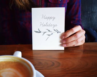 Happy Holidays Terrene Studio Watercolor Greeting Card