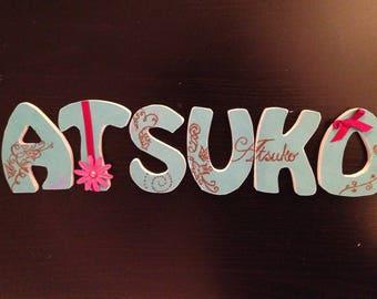 Order wooden name personalize Atsuko
