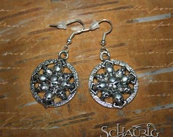 Skull earrings, Gothic
