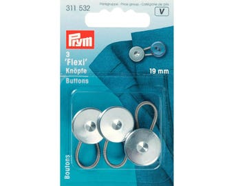 Button flexi for shirt and pants - 19 mm - 3 pcs