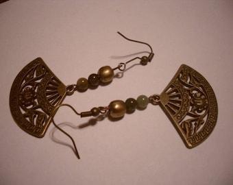 agate Crystal healing earrings