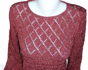 Sweater with Argyle designs lurex thread