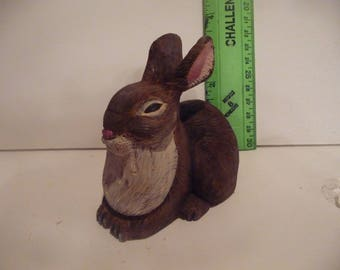 Rabbit, Hand carved and painted