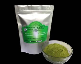 Dodjivi Matcha Green Tea Powder, Premium Grade USDA & Vegan Certified Matcha Tea Easy to Mix 100% Organic Matcha, Powerful Antioxidant Drink