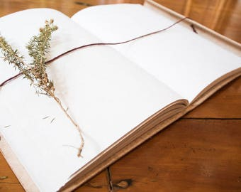 Leather handmade journal