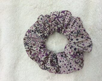 Scrunchie liberty adeladja purple fabric