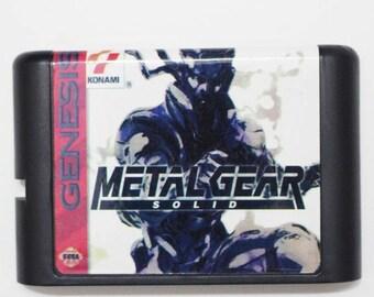Metal Gear Solid Sega game Genesis NTSC repro new