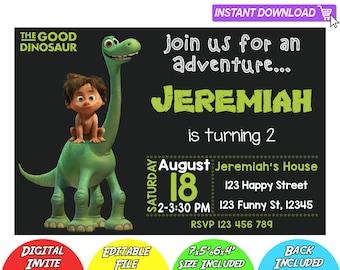 SALE 80% OFF: The Good Dinosaur Invitation, The Good Dinosaur Instant Download Invitation, The Good Dinosaur Invitations, Good Dinosaur PDF