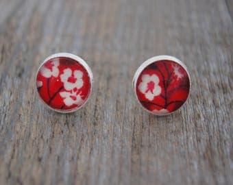 EARRING STUDS LIBERTY RED - PU002