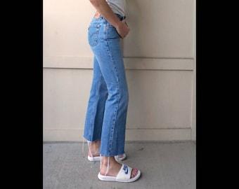 Vintage Levi's Jeans Size 26 |  Vintage Distressed Hem Levi's 26 |  High Waisted Levi's 26