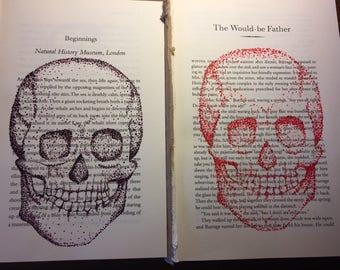 Color Skull Nail Polish on Book Paper