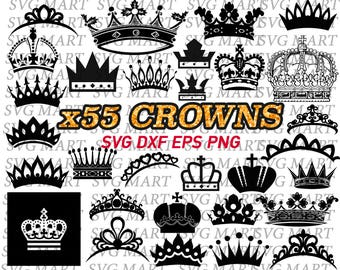 crown svg, princess crown,royal,tiara,clipart, eps, dxf, png, stencil, decal, vinyl, silhouette, vector, cut files, printable, scrapbooking,